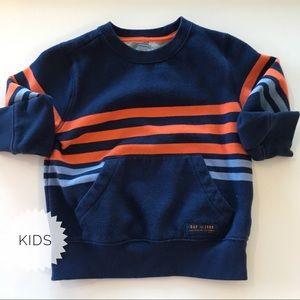 Baby Gap Blue and Orange Sweatshirt front pocket.